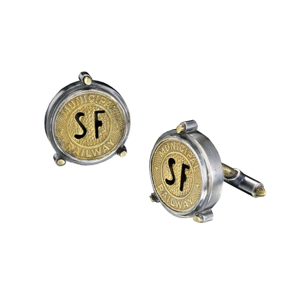 SF Muni token cufflinks