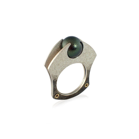 Tension Ring with Tahitian Pearl