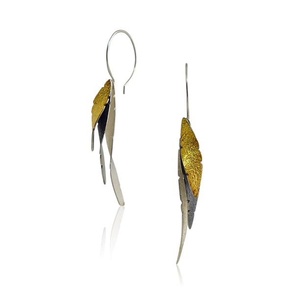 Three Leaves Earring
