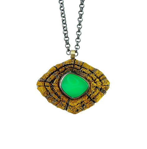 Redwood Pendant  - Chrysoprase