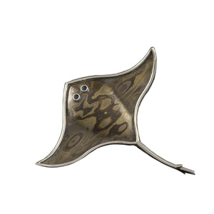 Stingray brooch
