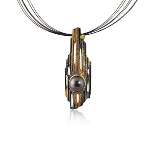 Sequoia Pendant with Tahitian Pearl - large