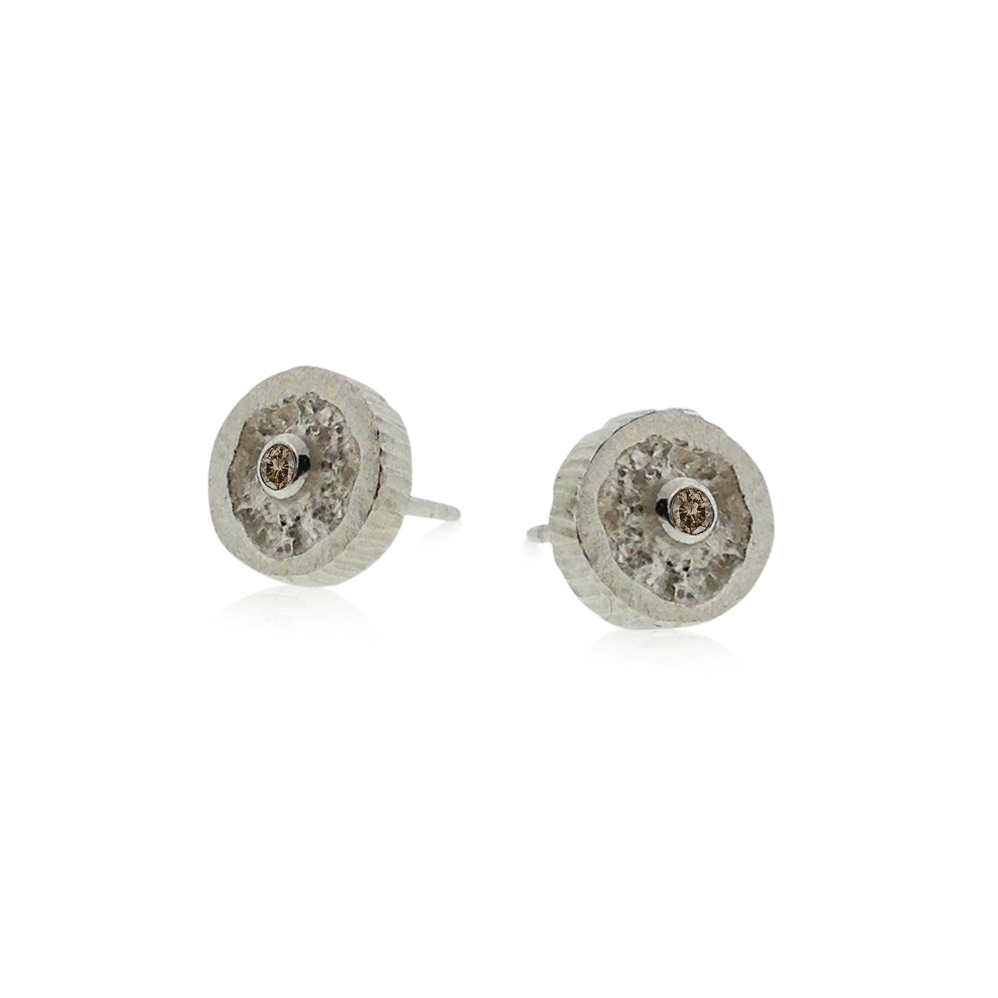 earrings hoops white black and pin diamond champagne
