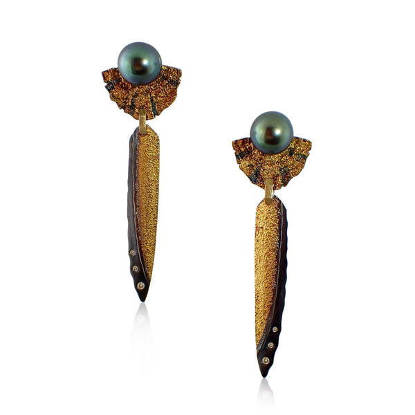 Stalactite Earrings with Pearls