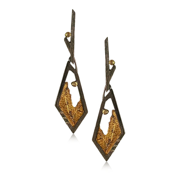 Terra Geo Drop Earrings - Small