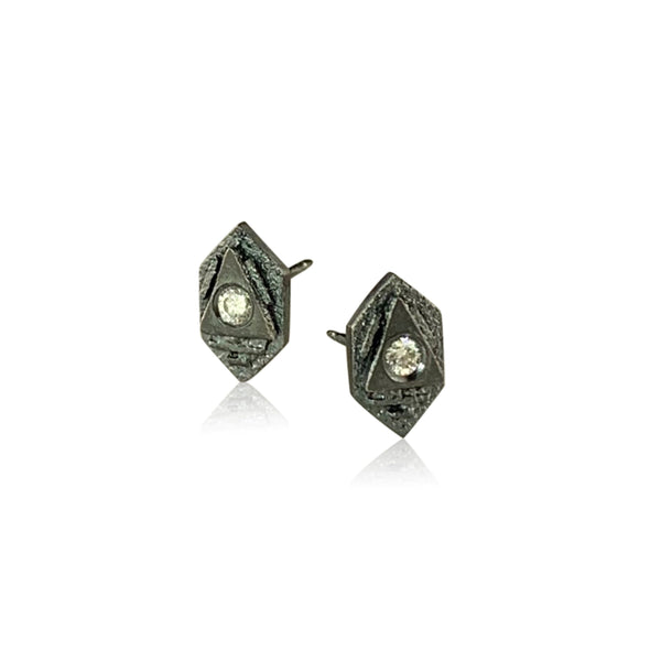 Tiny Atlantis Studs - Silver, bright or ox