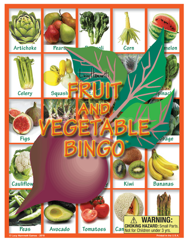 Fruit & Vegetable Bingo