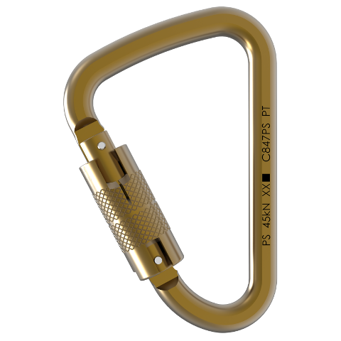 Steel Quicklock Carabiner - Pensafe Inc. - Coast Ropes and Rescue - Canada