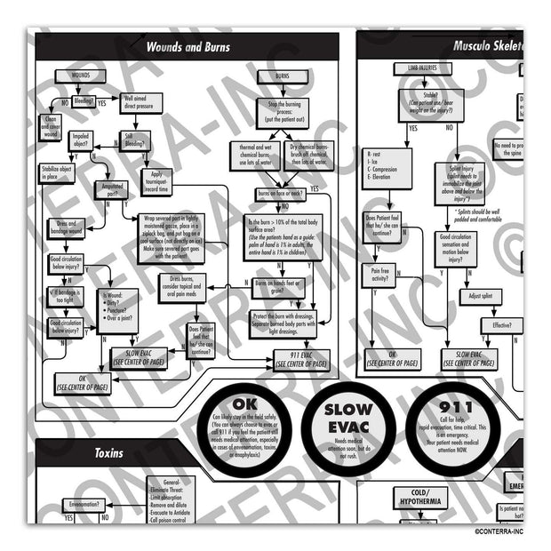 "Conterra - First Aid ""At a Glance"" Flowchart - Canada  - Coast Ropes and Rescue"