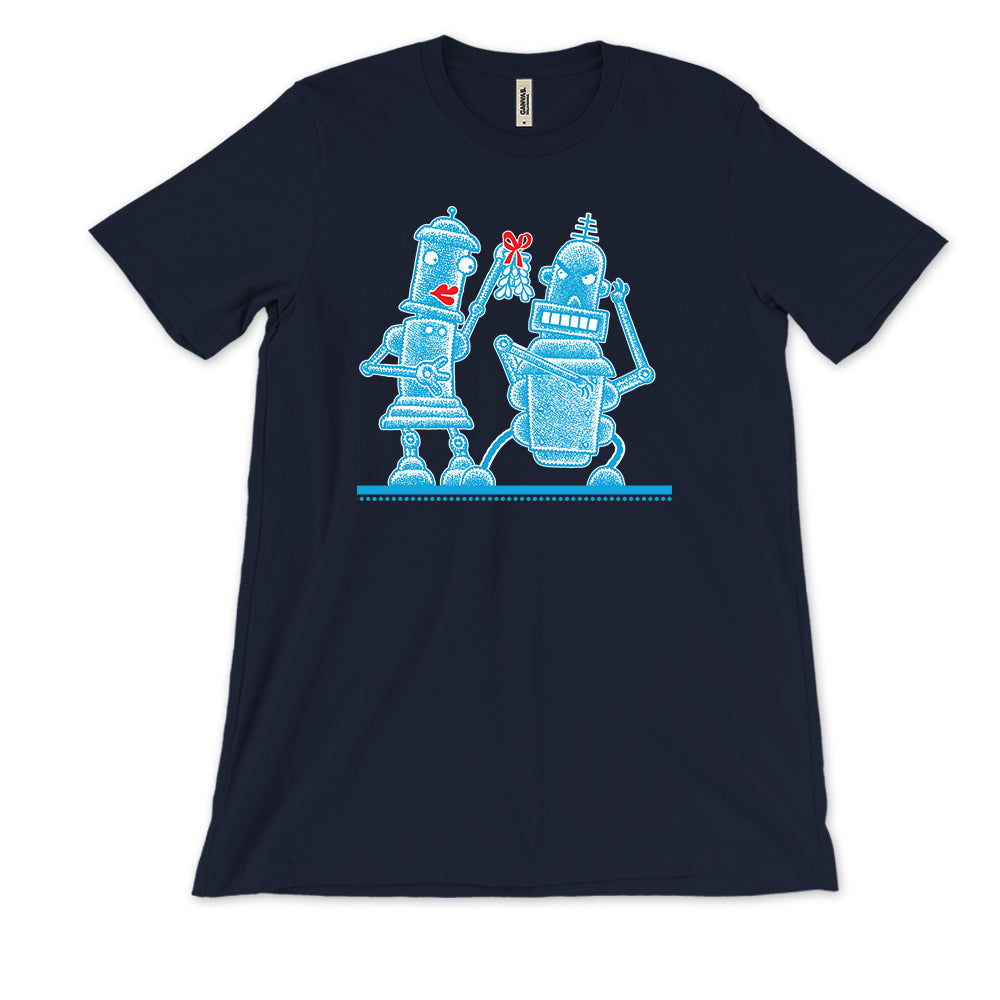 Robot Mistletoe T-Shirt (Women's Sizes)