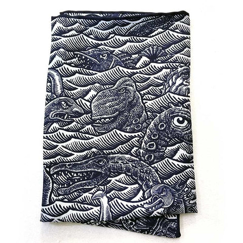 Sea Monster Jamboree Pocket Silk