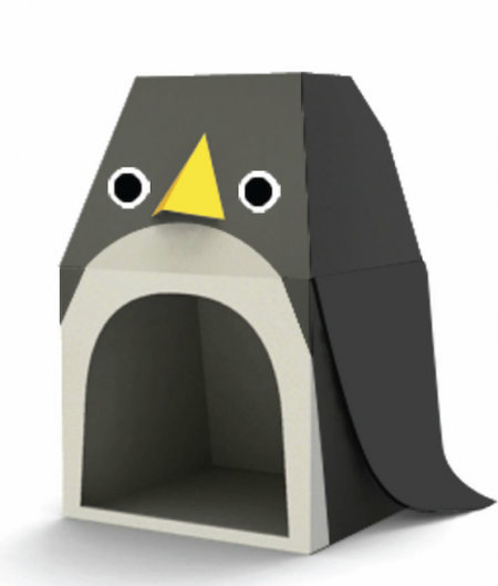Penguin Cardboard House