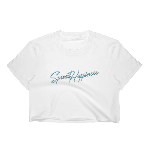 Spread Happiness Family Crest Crop Top