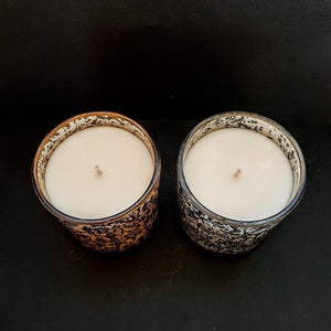 Sparkling Gold & Silver Glass Jars, Natural Soy Wax Candle - Highly Scented Fragrances - Garden of Eden Pure Fragrance