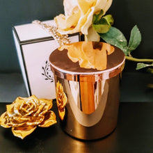 Load image into Gallery viewer, Beautiful Luxe Rose Gold Jar Extra Large with Lid - 100% Soy Wax Candle, 400g - Highly Scented Fragrances - Garden of Eden Pure Fragrance