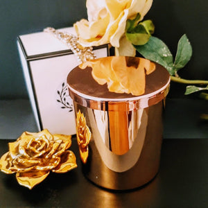Beautiful Luxe Rose Gold Jar Extra Large with Lid - 100% Soy Wax Candle, 400g - Highly Scented Fragrances - Garden of Eden Pure Fragrance