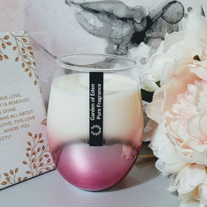 **Exclusive Product Only Found Here** - Spectacular X Large Ombre Glass Jars, Natural Soy Wax Candle - Highly Scented Fragrances  ***While Stocks Last*** - Garden of Eden Pure Fragrance