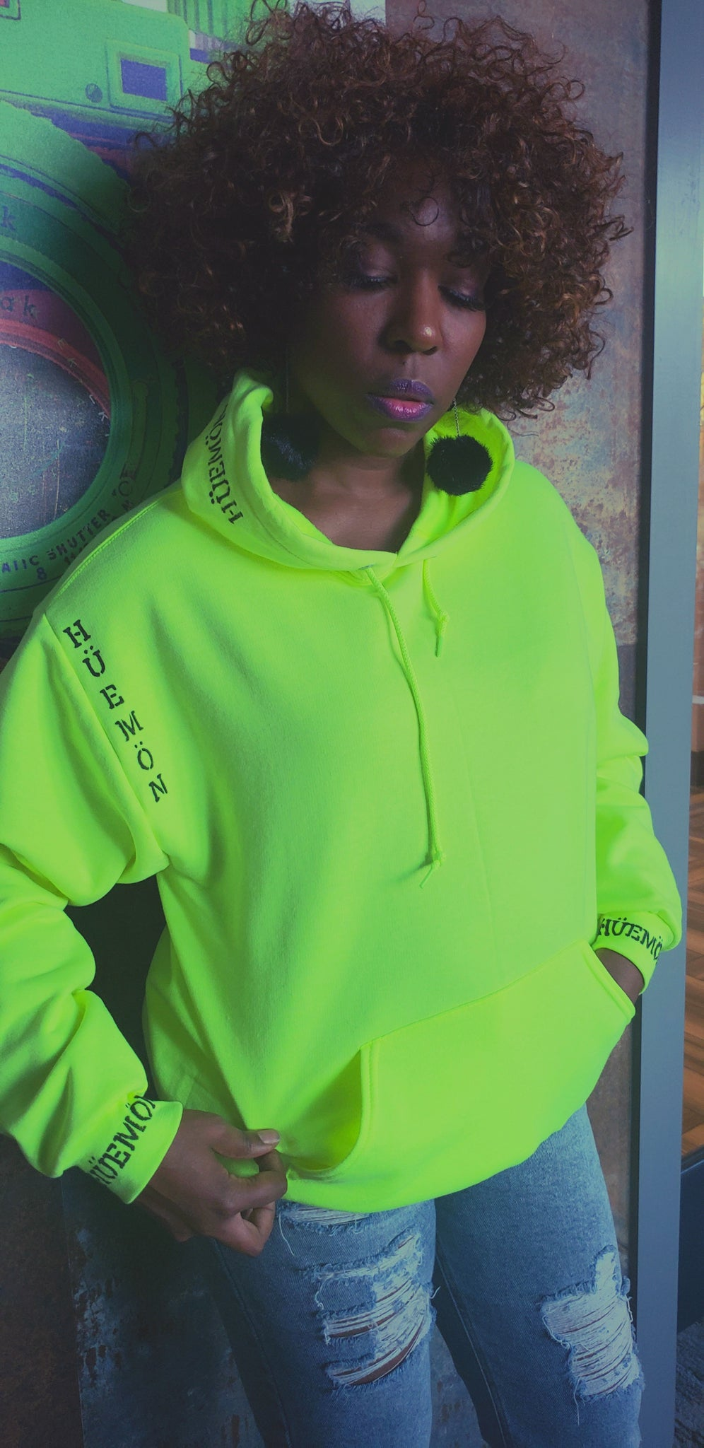 "Neon Hoodie from Limited ""Genesis"" Collection"