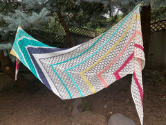 ice cream social shawl kit from candy skein