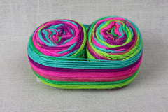 fibrelya self-striping sock wonderland