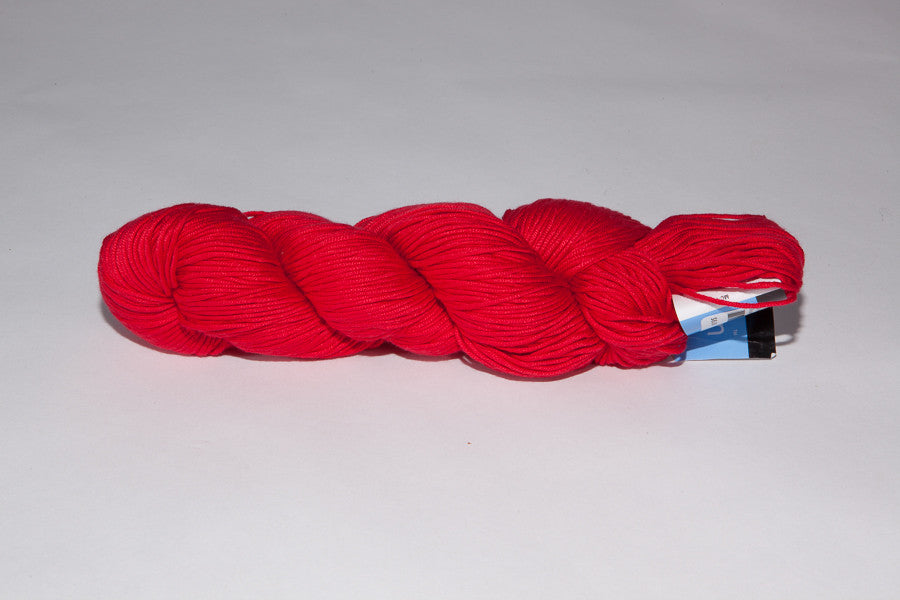 berroco modern cotton Worsted color 1650 rhode island red