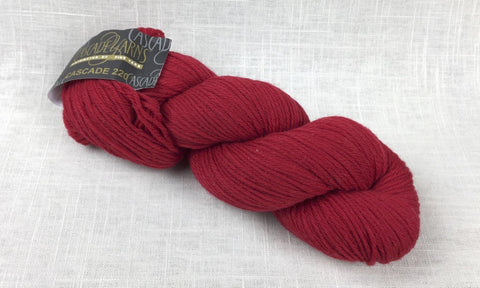 cascade yarns 220 wool worsted color 8895 christmas red
