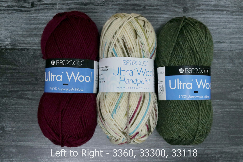 Ultra wool handpaint pairing, 3360, 33300, 33118
