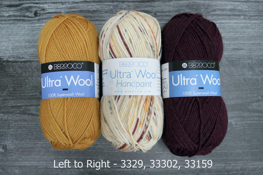 berroco ultra wool hand paint 3329, 33302, 33159