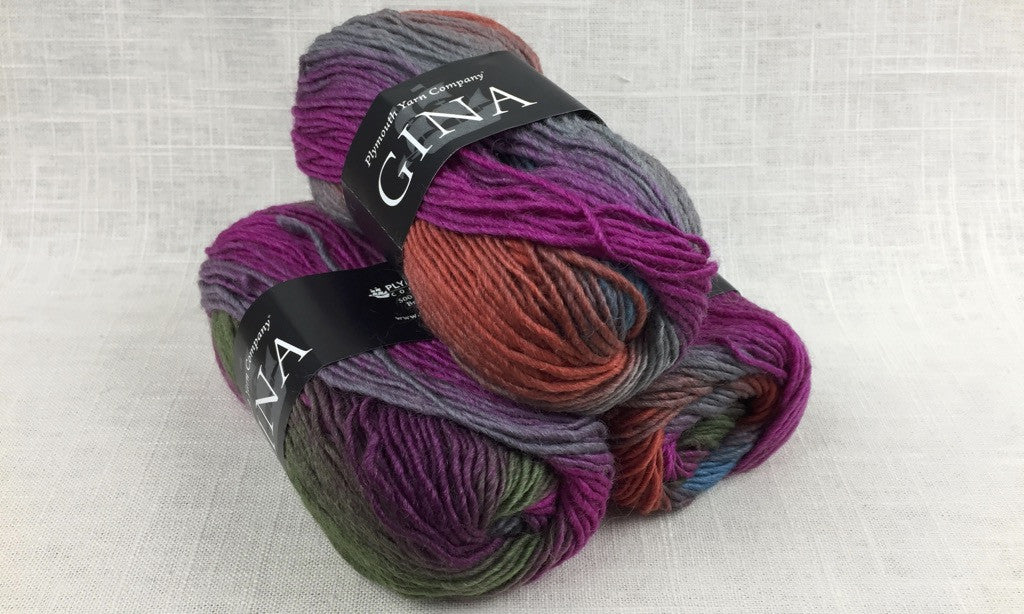 plymouth gina self stripe color change worsted wool color 0020