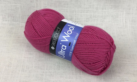 berroco ultra wool superwash 3331 hibiscus pink