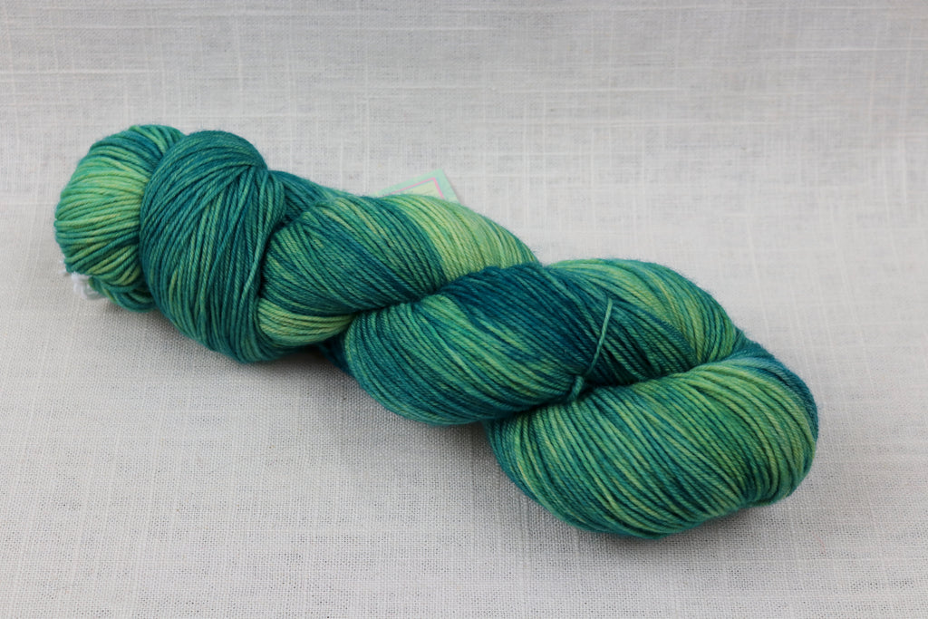 candy skein yummy fingering superwash wool appletini