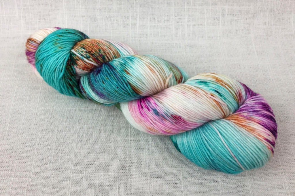 candy skein yummy fingering superwash wool birthday cake