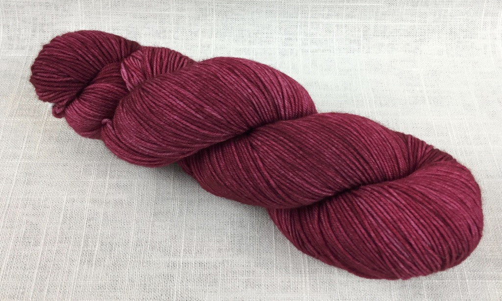 candy skein yummy fingering superwash wool cranberry sauce