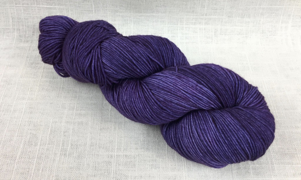 candy skein yummy fingering superwash wool mulberry purple