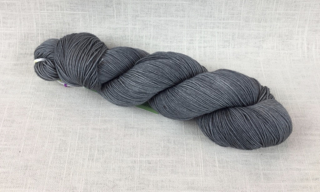 candy skein yummy fingering superwash wool oyster dark grey