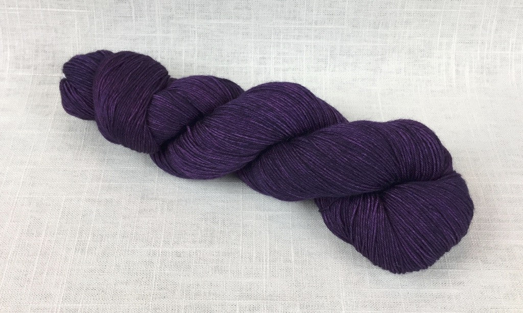 candy skein yummy fingering superwash wool plum dark purple
