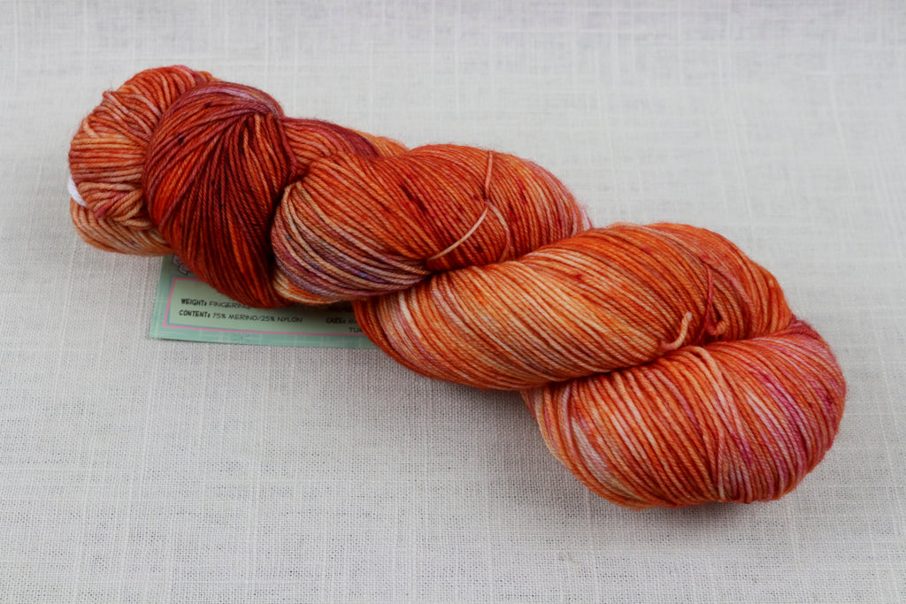 candy skein yummy fingering superwash wool pomegranate