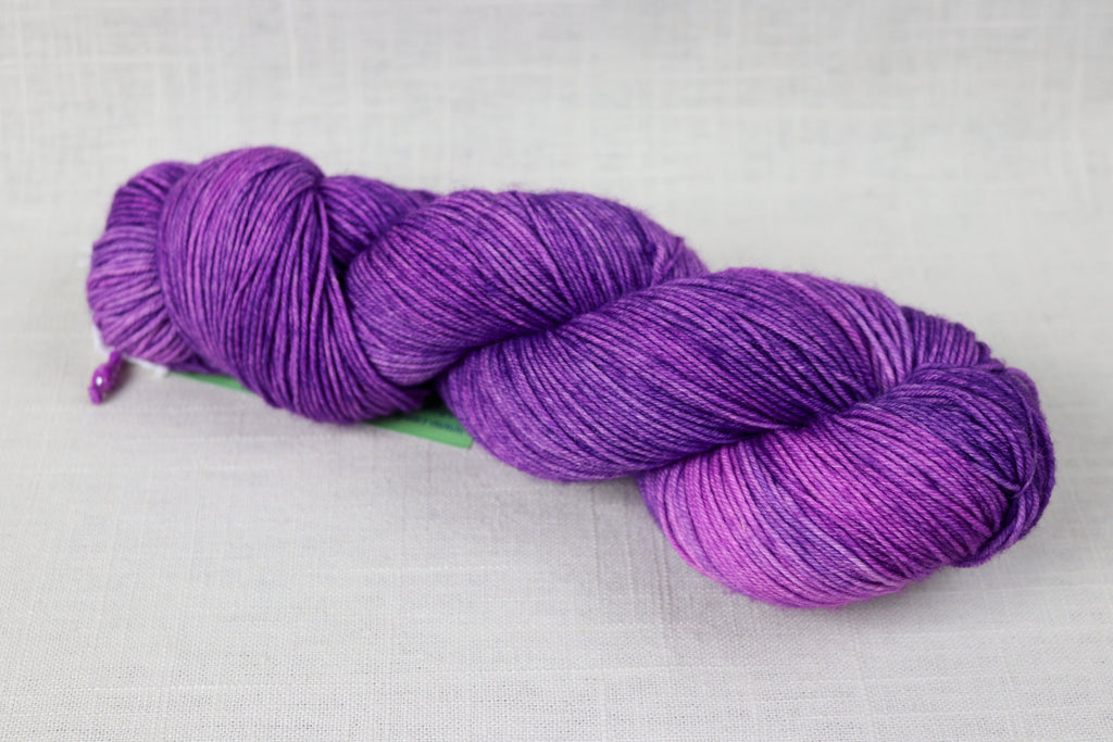 candy skein yummy fingering superwash wool purple rain martini