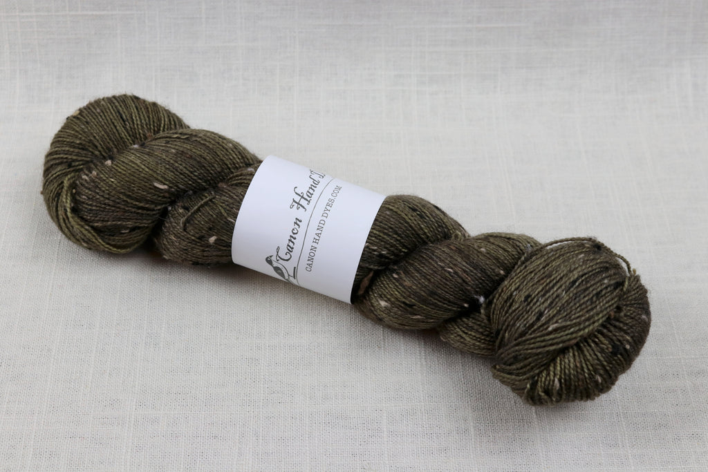 canon hand dyes robert tweed fingering olive you