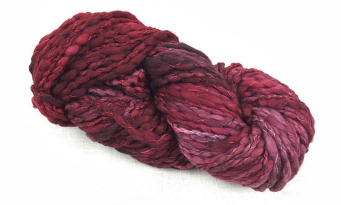 malabrigo caracol thick thin hand dyed CAR033 cereza red
