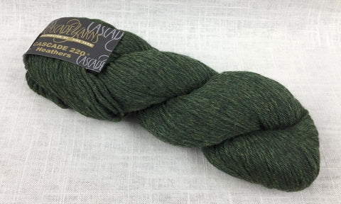 cascade yarns 220 wool worsted color 2445 shire heathered green