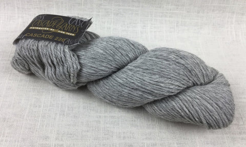 cascade yarns 220 wool worsted color 8401 silver grey