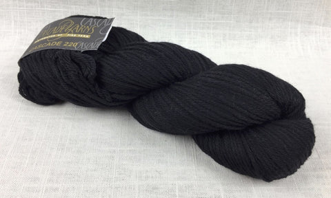 cascade yarns 220 wool worsted color 8555 black