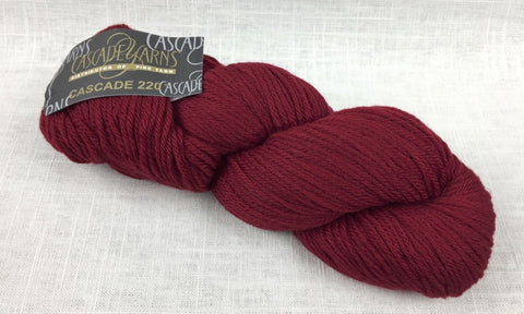 cascade yarns 220 wool worsted color 9404 ruby