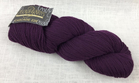 cascade yarns 220 wool worsted color 9572 cabernet