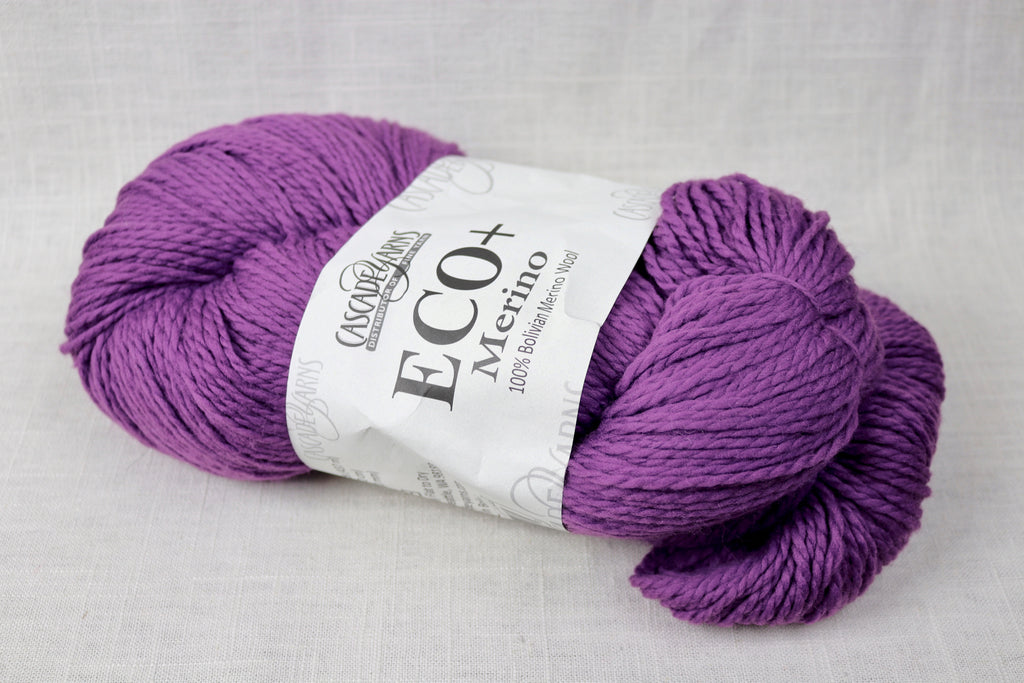 cascade eco+ merino aran/chunky 26 crushed grape