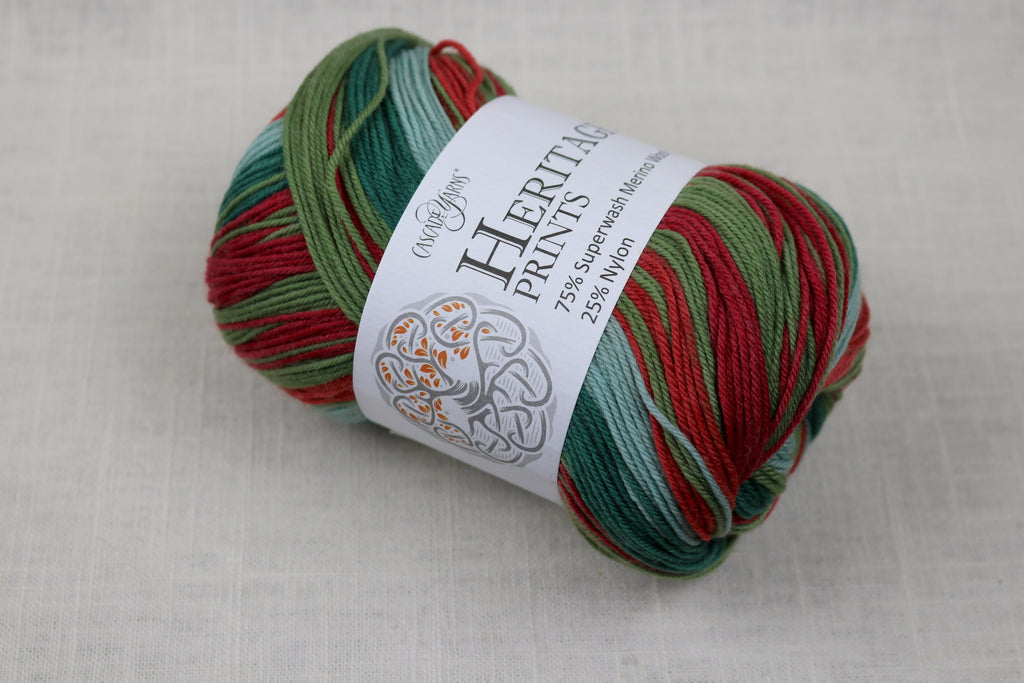 cascade yarns heritage prints 60 holidaze stripe