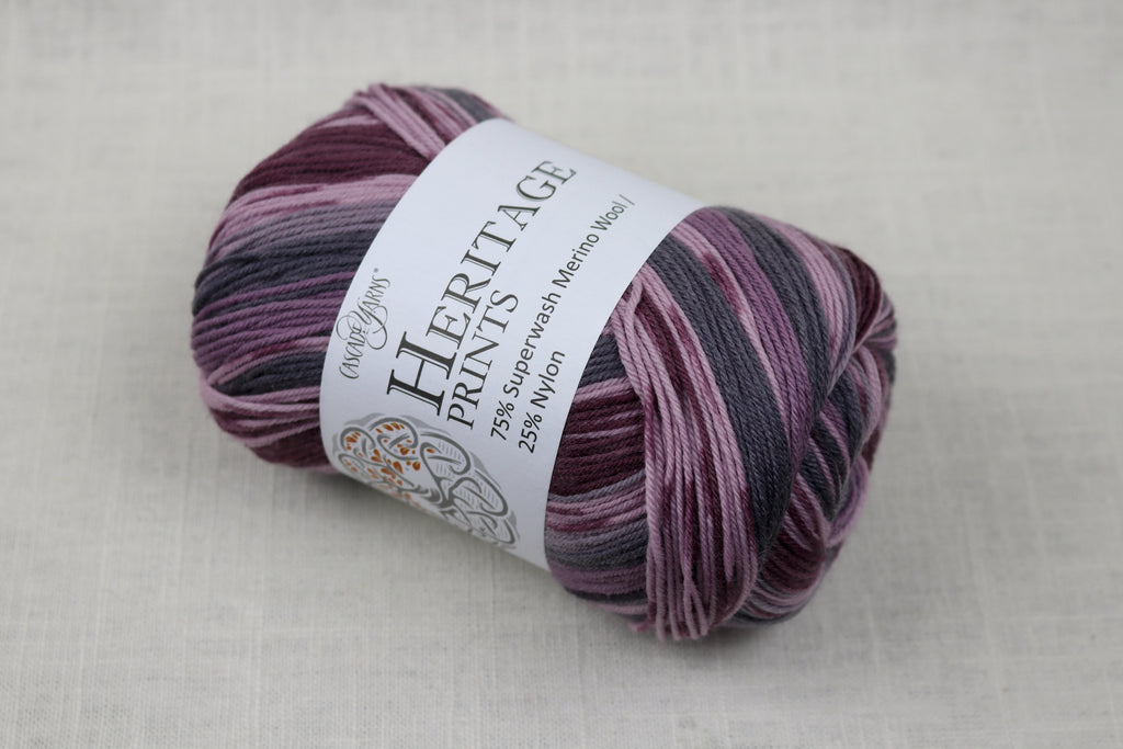 cascade yarns heritage prints 86 purple smoke faux fair isle