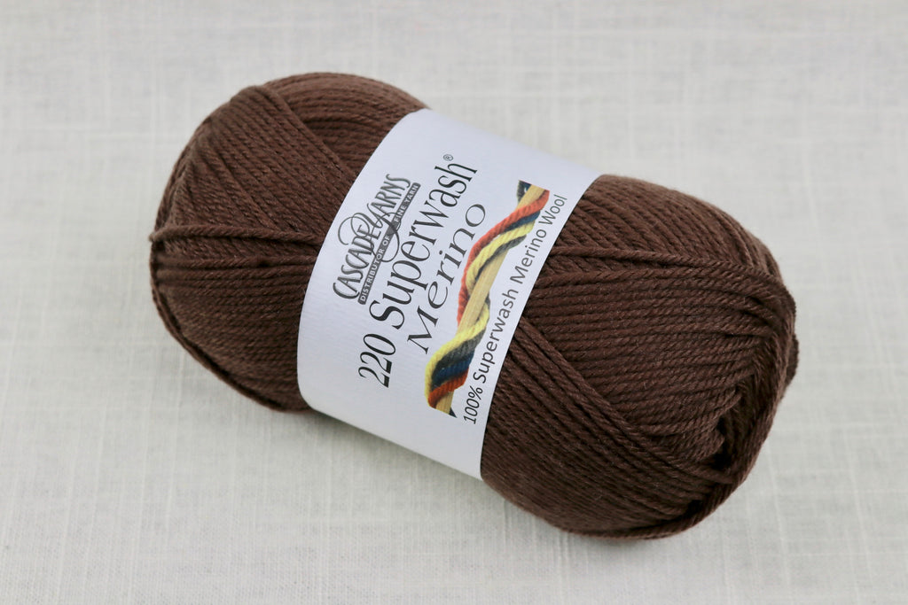 cascade yarns 220 superwash merino 03 rich brown