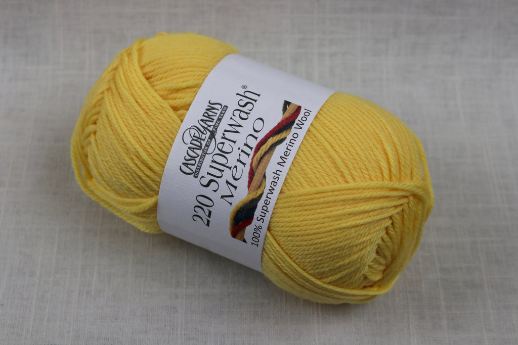 cascade yarns 220 superwash merino 09 lemon